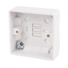 1 Gang 32mm Surface Mounted Pattress Box