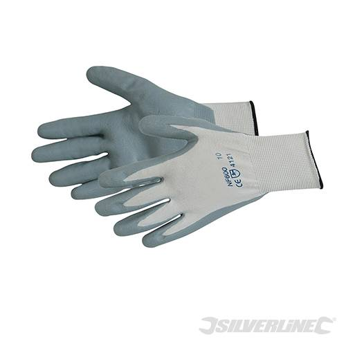 Foam Nylon Nitrile Gloves
