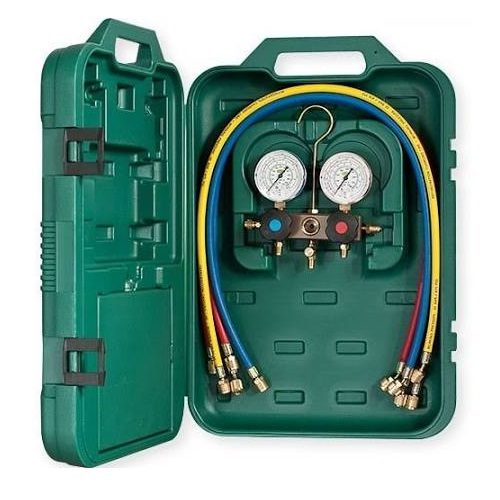 "Refco R407C Manifold with 1/4"" Charging Lines"