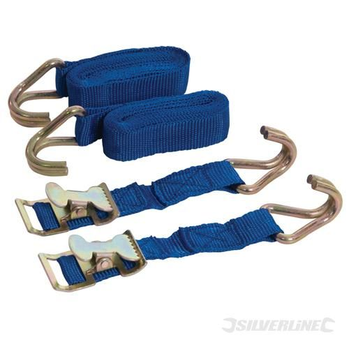 Silverline Easy-Lock Straps Set 2pce